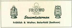Frowo Zeitungsanzeige 1953