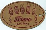 Frowo Laternenanhänger Vorkriegszeit Rückseite