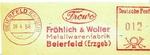 Freistempler mit Schreibschrift-Logo